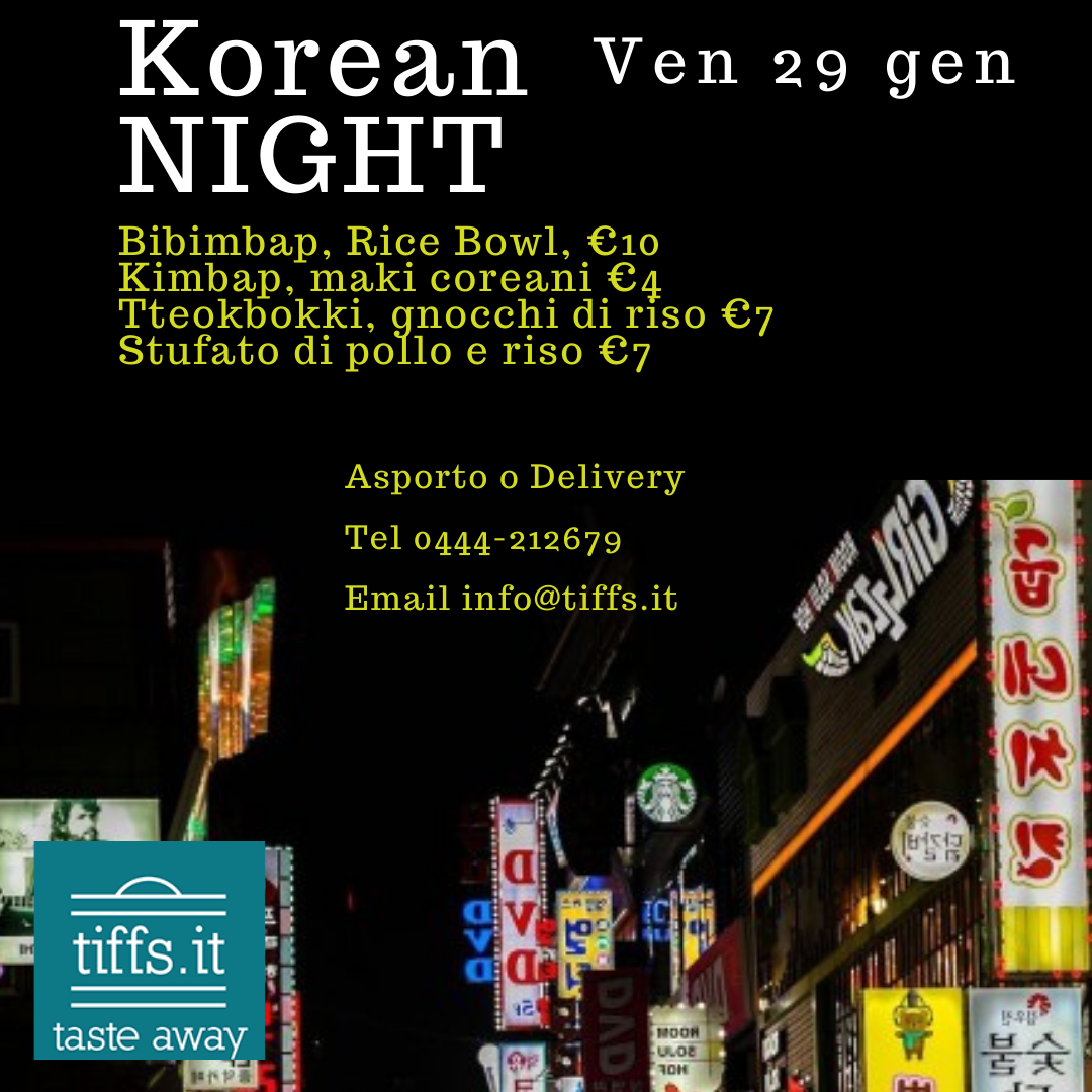 Korean Night, ven 29 gen 2021