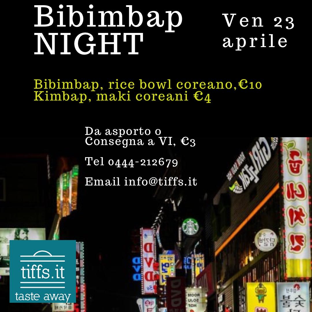 Bibimbap Night, ven 23 aprile