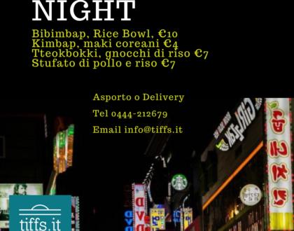 Korean Night, ven 29 gen 2021