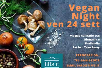Vegan Night ven 24 sett 2021